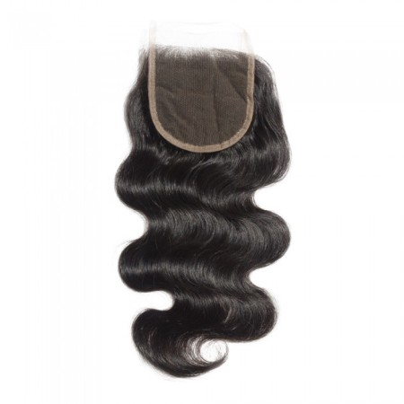 "08-20 Inch 4"" x 4"" Body Wavy Lace Closure #1B Natural Black"