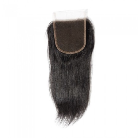 "08-20 Inch 4"" x 4"" Straight Lace Closure #1B Natural Black"