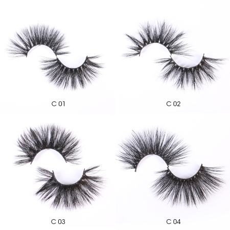 25mm Mink Eyelashes One Pair with Box MOQ:10Pairs