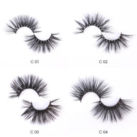 25mm Mink Eyelashes One Pair with Box MOQ:10Pairs