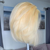 #613 Blonde 13*4 Lace Front Human Wigs Short Bob Straight Lace Wigs
