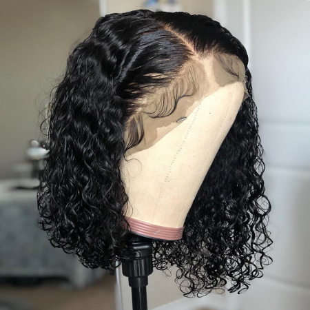 150% density Short Big Curly BOB Wigs Brazilian Lace Front Human Hair Wigs For Black Women
