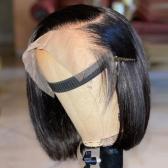 #1B Short Bob 150% density Full Lace Human Hair Wigs