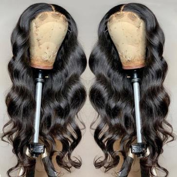 Celebrity Copycatting Kim kardashian Style Body Wave Lace Frontal Wig